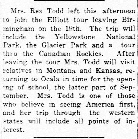 Mrs. Rex Todd Glacier ed