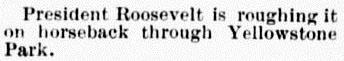 Roosevelt Yellowstone ed