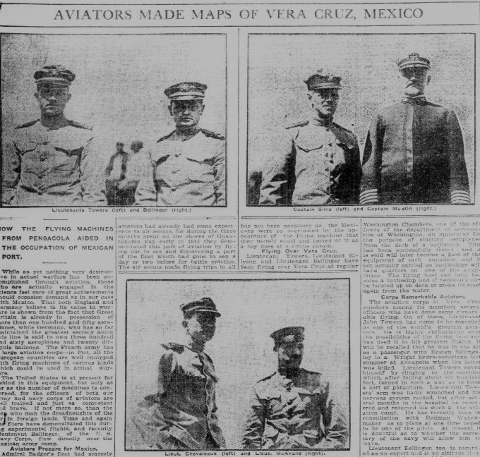 Aviators made maps of Vera Cruz