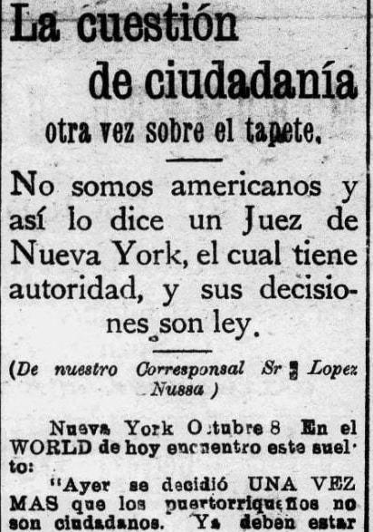 Snippet from La Correspondencia- 1902