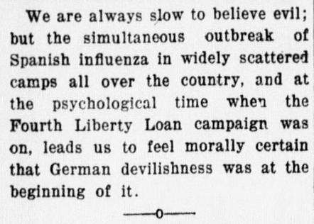 Speculation Germans caused disease