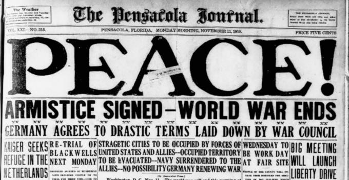 PEACE Armistice Signed